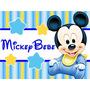 Kit Imprimible Mickey Bebe Disney Candy Bar Tarjetas Y Mas