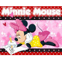Kit Imprimible Minnie Mouse Diseñá Tarjetas , Cumples #2