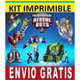 Kit Imprimible Transformers Rescue Bots Caja Etiqueta Invita