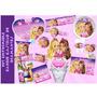 Kit Imprimible Barbie Castillo De Diamantes Tarjetas Invita8