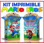 Kit Imprimible Mario Bros Textos 100% Editables Cumplea #2