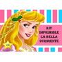 Kit Imprimible Princesas Aurora De La Bella Durmiente