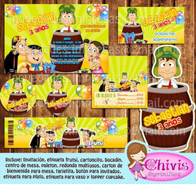 Kit Imprimible Cumpleaños Chavo Del 8 Candy Bar
