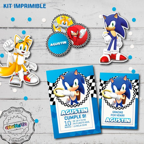 Kit Imprimible Cumpleaños Sonic
