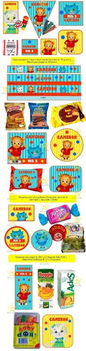 kit imprimible daniel el tigre candy bar golosinas 1