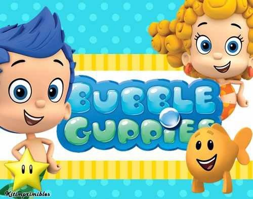 kit imprimible de 2 bubble guppies diseñá tarjetas y mas