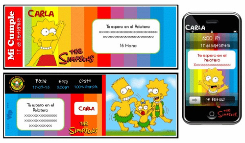 kit imprimible de bart simpsons