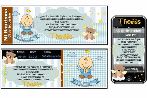kit imprimible de bautismo 100% personalizado