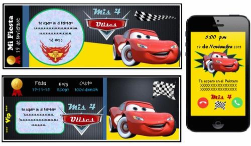 kit imprimible de cars autos