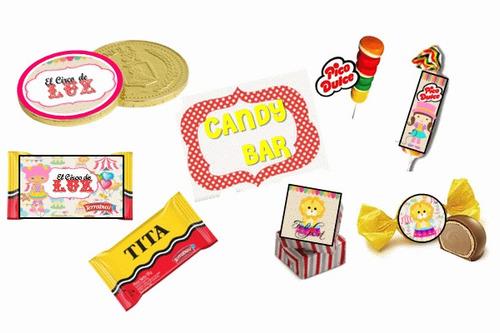 kit imprimible de circo 100% personalizado para niñas