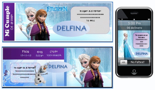 kit imprimible de frozen: candy bar, decoracion, banderin