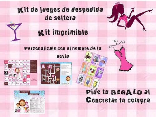 kit  imprimible de juegos para despedida de soltera