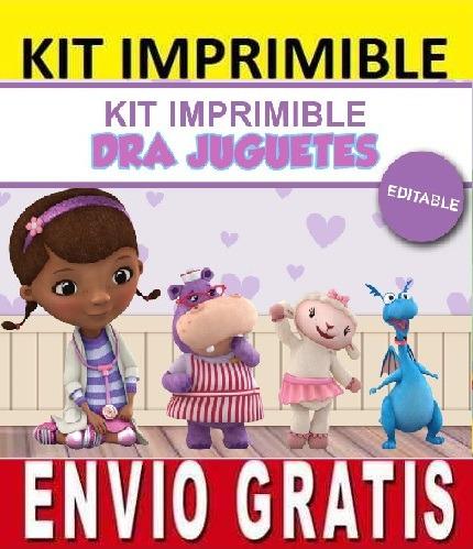 kit imprimible de la doctora juguetes diseña invitaciones