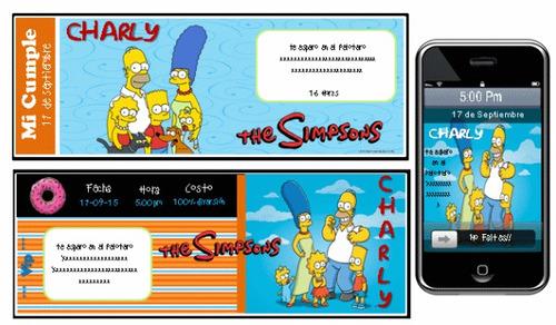 kit imprimible de los simpsons 100% personalizado