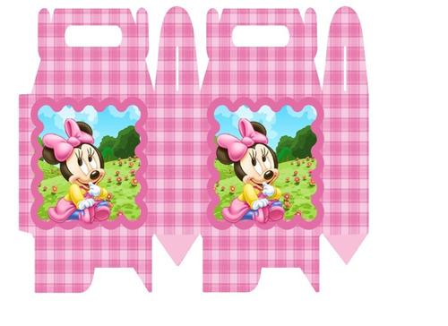 kit imprimible de minnie mouse bebe - diseña tarjetas 8