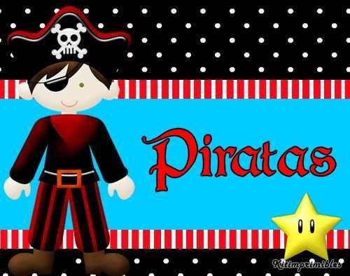 kit imprimible de piratas diseñá tarjetas , cumples y mas