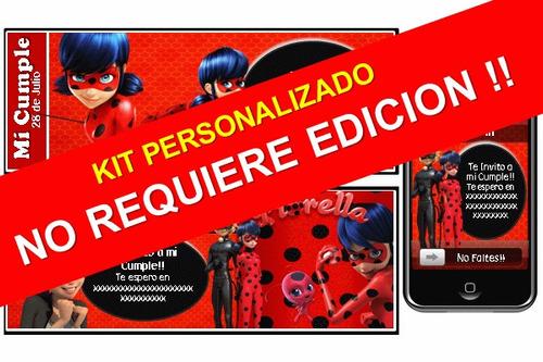 kit imprimible de prodigiosa 100% personalizado ladybug
