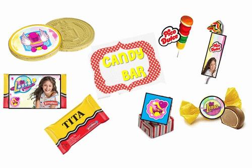 kit imprimible de soy luna: candy bar, deco, banderin, torta