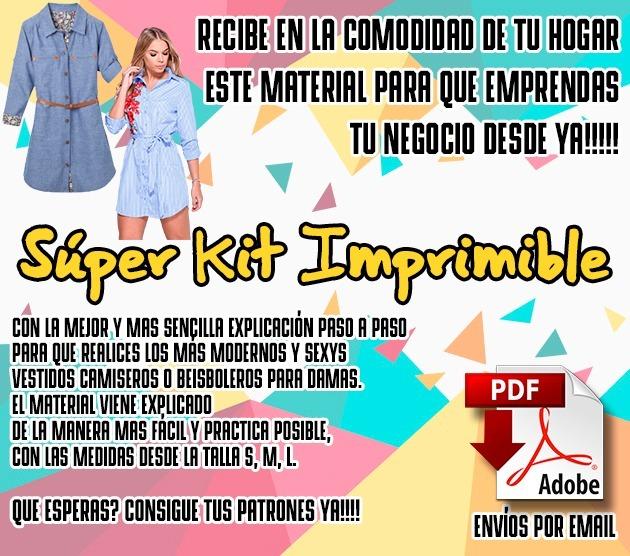 Kit Imprimible De Vestidos Camiseros -   5.000 en Mercado Libre 73c42a35f88e