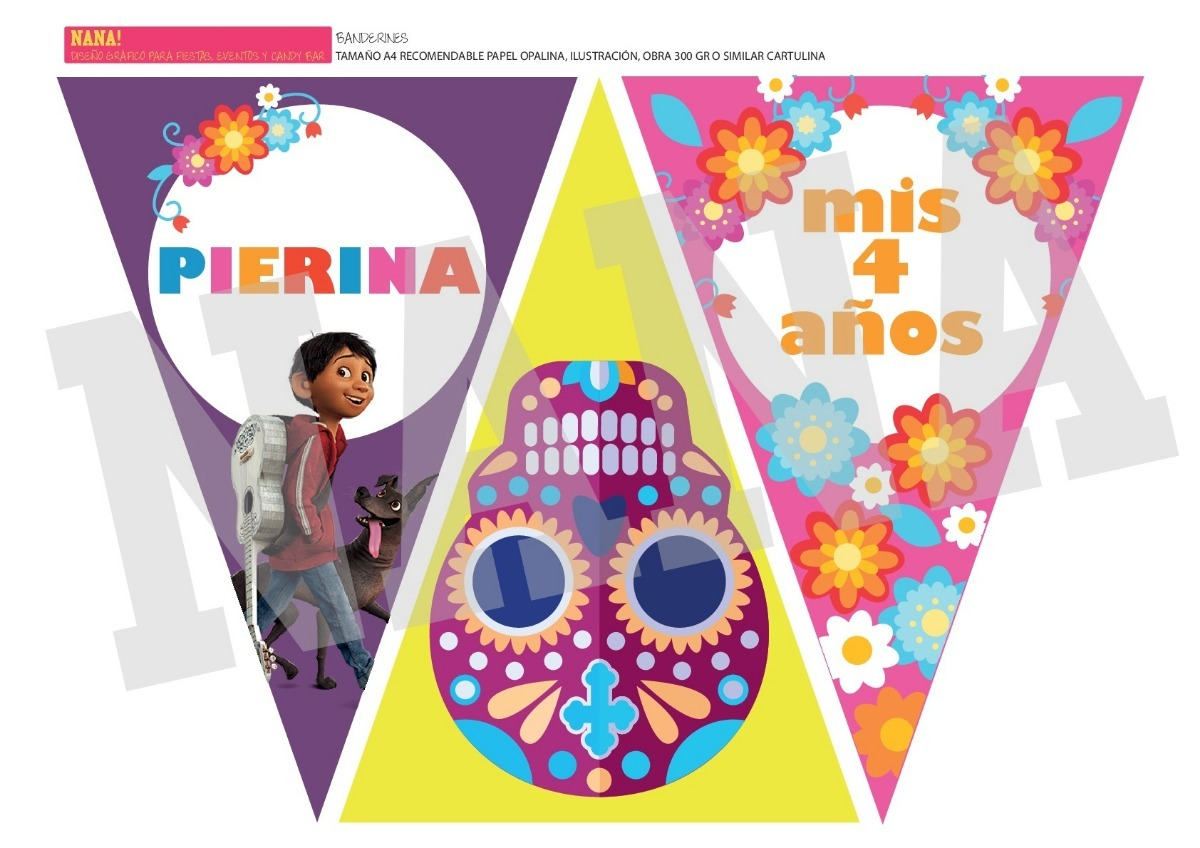 Kit Imprimible Deco Candy Bar Cumple Coco Mexico Calavera - $ 280,00 ...