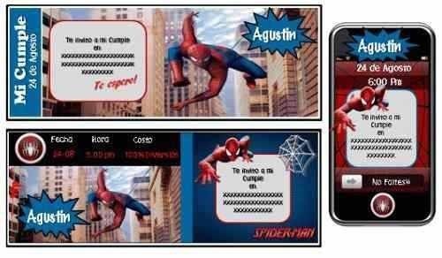 kit imprimible del hombre araña spiderman