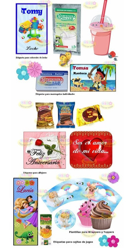 kit imprimible desayunos personalizados ocasiones especiales