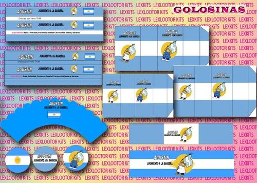 kit imprimible dia de la bandera juramento bandera candybar