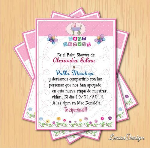 kit imprimible digital baby shower flores