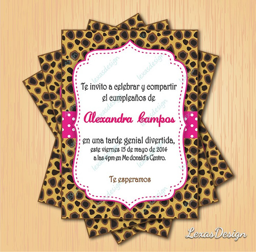 kit imprimible digital fiesta animal print