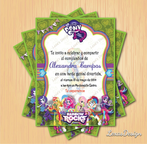 kit imprimible digital fiesta equestria pony girls