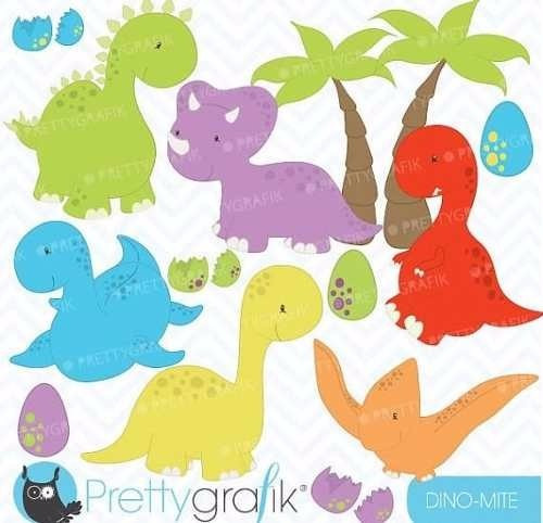 kit imprimible dinosaurios 2 imagenes clipart