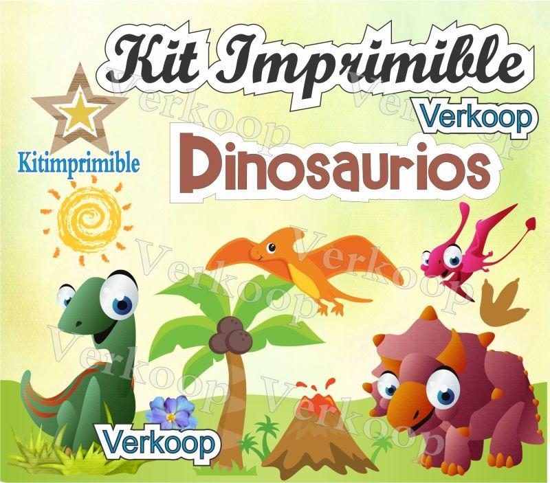 Kit Imprimible Dinosaurios Candy Bar Invitaciones Editable