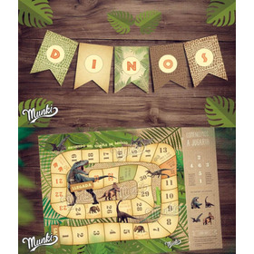 Kit Imprimible Dinosaurios Candy Bar Personalizado Jurassic