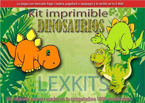 kit imprimible dinosaurios dinos candybar tarjetas y mas