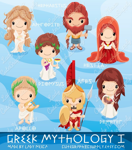 kit imprimible dios griego 1 clipart b139