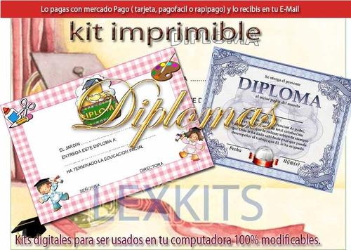 kit imprimible diplomas