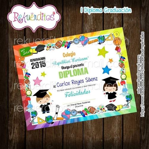 kit imprimible diplomas egresados jardin infantil kdkt0183