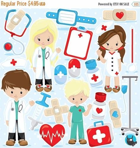 kit imprimible doctor medico imagenes clipart cod954