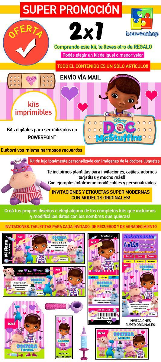 Kit Imprimible Doctora Juguetes Candy Bar Tarjetas Souvenirs - $ 44 ...