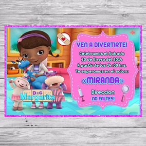 Kit Imprimible Doctora Juguetes Invitacion Golosinas Editar