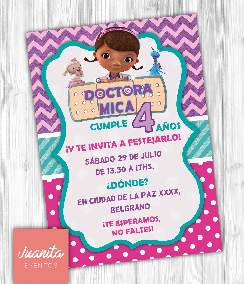 Kit Imprimible Doctora Juguetes Invitaciones Cumple Candybar
