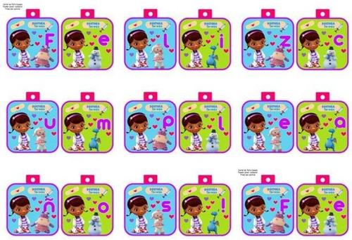 kit imprimible doctora juguetes para decorar fiesta