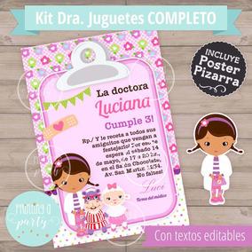 Kit Imprimible Doctora Juguetes Pizarra Candy Decoracion