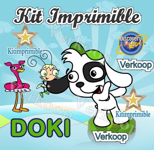 kit imprimible doki + candy bar invitaciones fiesta frames