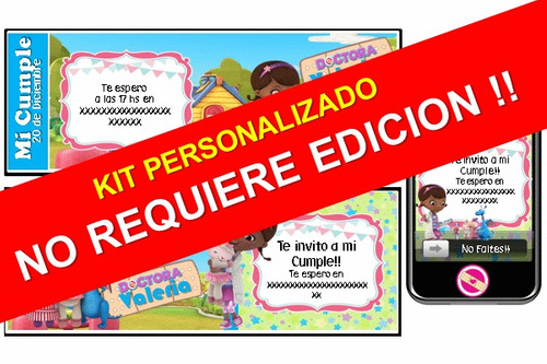 kit imprimible dra juguetes 100% personalizado