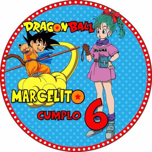 kit imprimible dragon ball cotillón cumpleaños infantiles