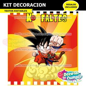 Kit Imprimible Dragon Ball Goku Invitación Decoración P48