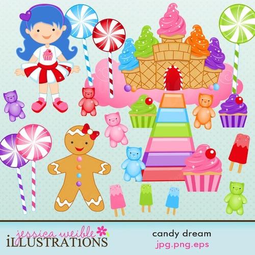 kit imprimible dulces sueños clipart b143