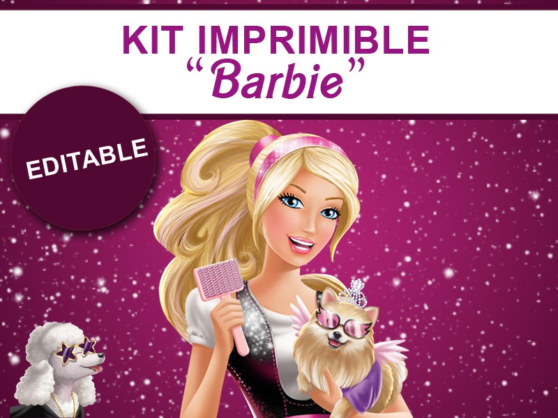 Kit imprimible editable barbie candy bar golosina sticker 70 cargando zoom altavistaventures Image collections