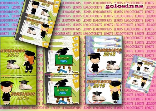 kit imprimible  egresados primaria o secundaria graduados